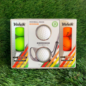 [VOLVIK X SHAREFRIENDS] NEW VIVID GOLF BALL 6EA(3pices) + MEDIBALL MASKPACK 2EA SET